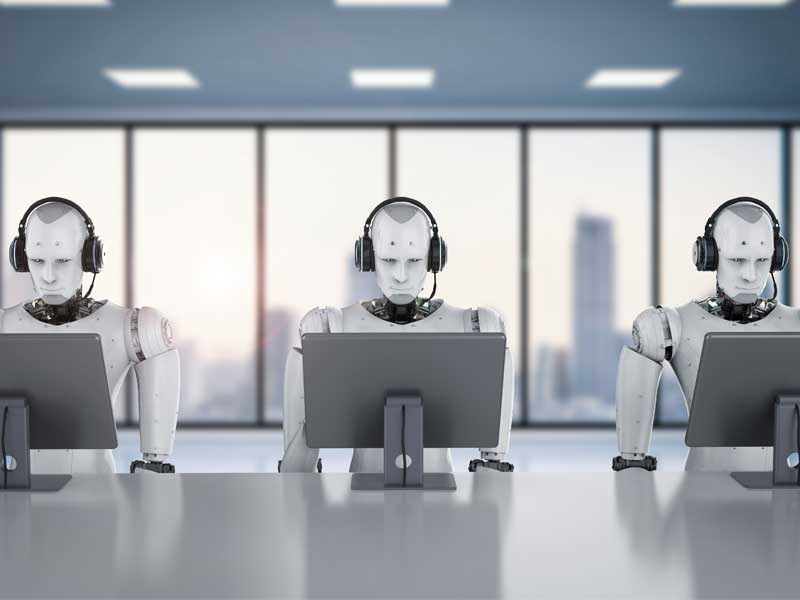 Robots in call center