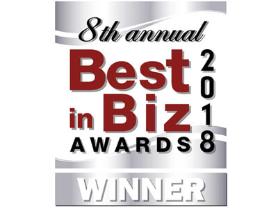 8th annual Best in Biz Awards 2018 Winner