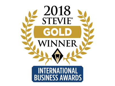 2018 Stevie Gold Winner International Business Awards