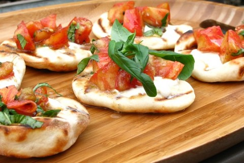 Grilled Tomato Basil Flatbreads