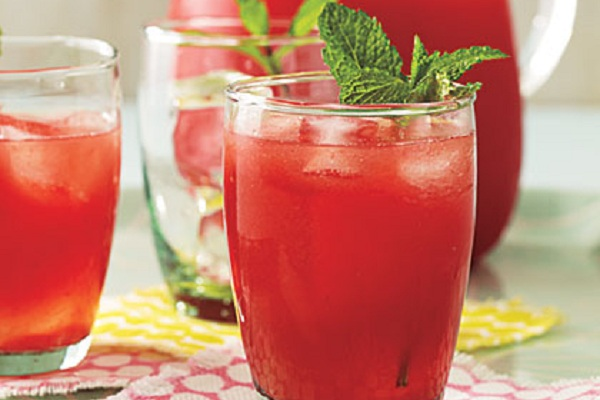 Minted Lemon-Lime Watermelon Agua Fresca from My Recipes