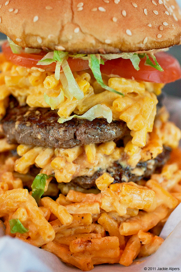 Macaroni and Cheeseburger, photo by Jackie Alpers