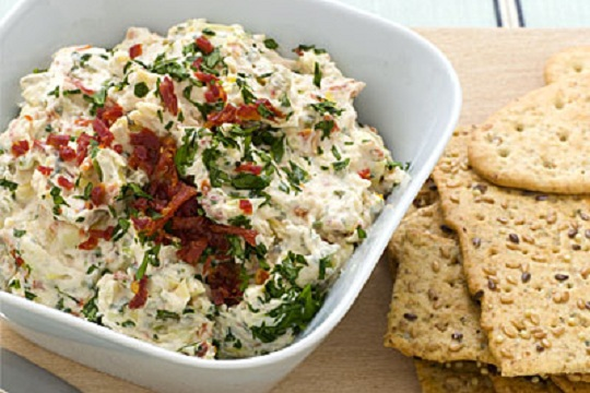 Skinny Spinach Artichoke Dip from Food.com Photo by Andrew McCaul