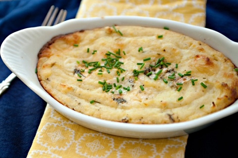 Blue Cheese and Roasted Apple Mashed Potatoes