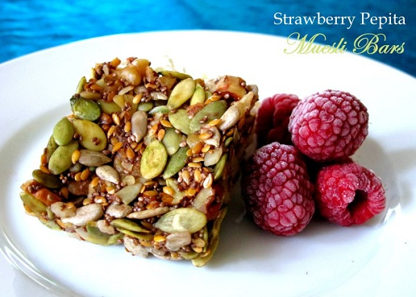 Strawberry Pepita Muesli Bars from Not From a Packet Mix