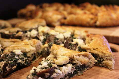 Mushroom, Spinach, and Goat Cheese Tart