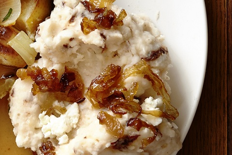 Mashed Potatoes with Caramelized Shallots