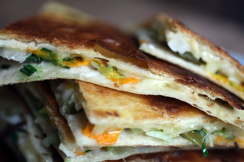 Courgette Flower Quesadillas