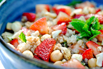balsamic strawberry tabbouleh