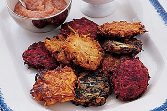 Carrot and Beet Latkes