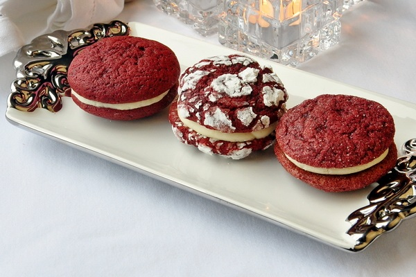 Red Velvet Cream Cheese Cookies from Rock Recipes