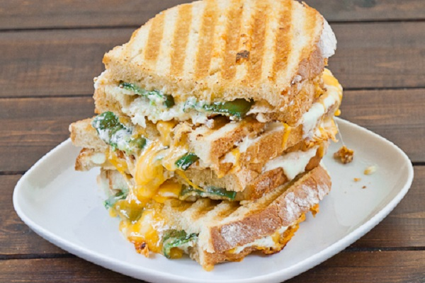 Jalapeno Popper Grilled Cheese from Jo Cooks