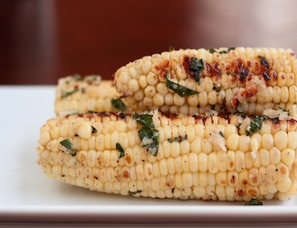 Grilled Corn on the Cob with Basil-Parmesan Butter