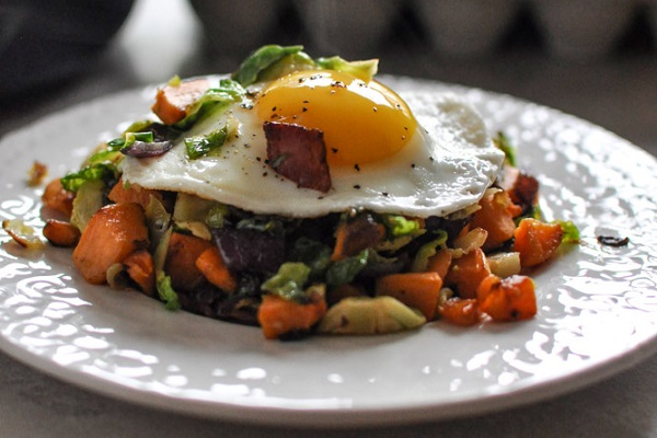 Brussels Sprouts Breakfast Hash from How Sweet It Is