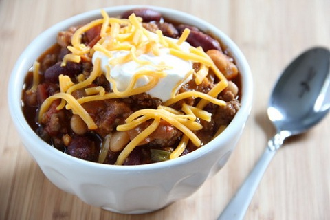 Crock Pot Two Bean Spicy Chili
