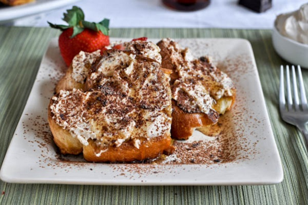Tiramisu French Toast from How Sweet It Is