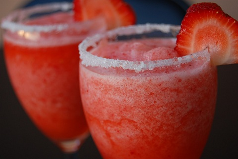 Strawberry Lime Daiquiri Mocktail