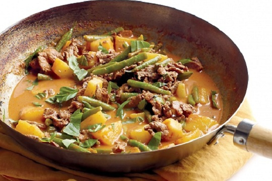 Beef and Pineapple Red Curry from Martha Stewart