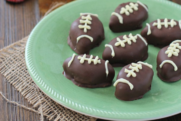 Oreo Football Truffles from Cookie Monster Cooking
