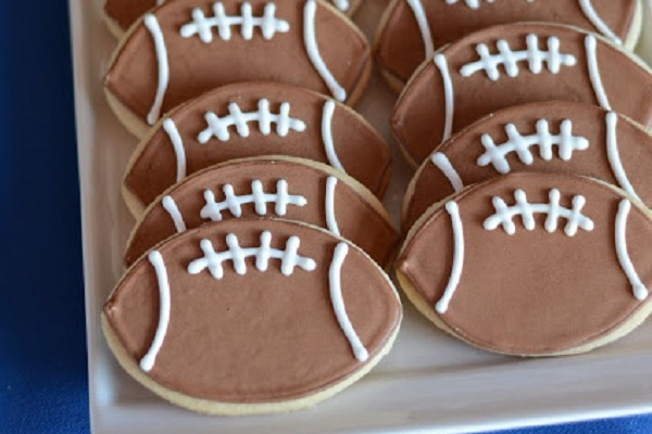 Football Cookies from I Heart Baking