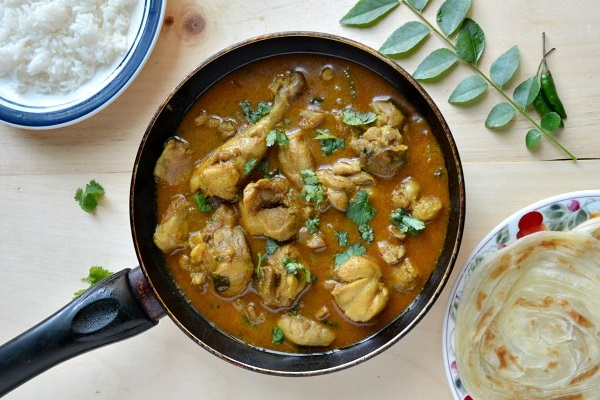 Pressure Cooker Chicken Curry (Chicken Kulambhu) from Nalini's Cooking