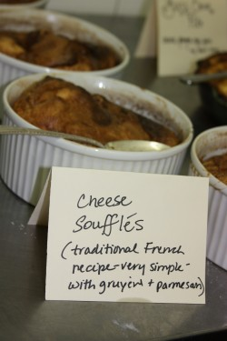 Simple but delicious cheese souffle.