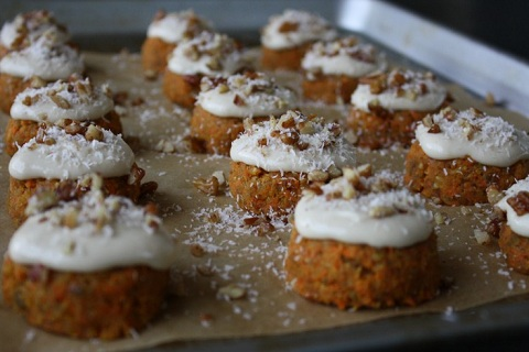 Raw Carrot Cake with Cashew Cream Cheese Frosting