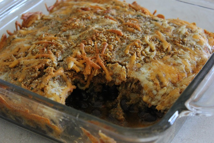 Southwestern Black Bean and Green Chili Gratin from Yumology