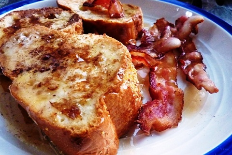 French Toast with Maple Bourbon Butter