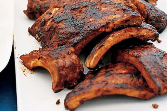Barbecued Baby-Back Ribs from Martha Stewart