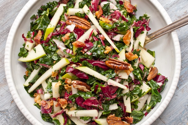 Kale, Apple and Pancetta Salad from Serious Eats