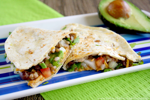 Black Bean and Cilantro Quesadillas from The Healthy Family and Home