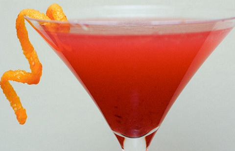 Blood Orange Vodka Martini