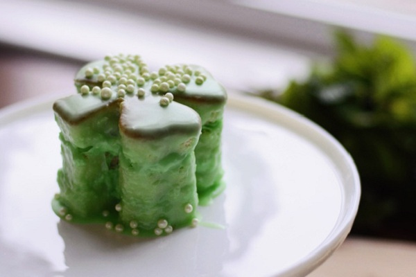 Shamrock Petit Fours from Celebrating Everyday Life