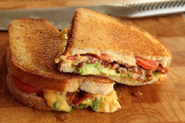 Grilled Cheese with Bacon, Tomato, and Avocado from Serious Eats