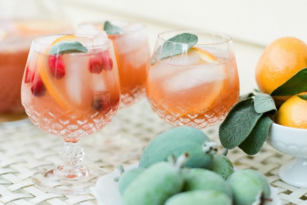 Guava Sangria with a Touch of Sage from Santa Barbara Chic