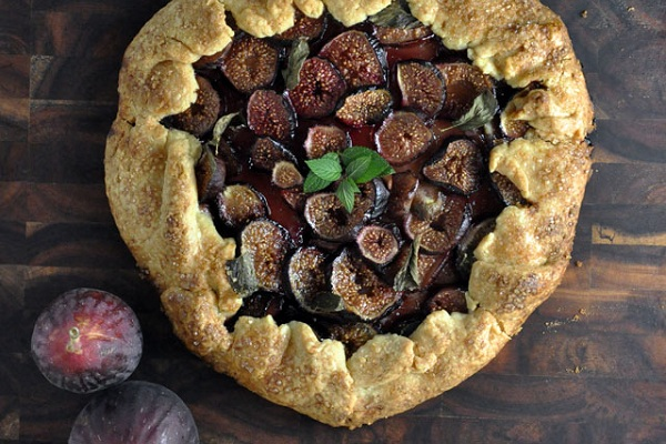 Fig, Mint and Honey Galette from Turntable Kitchen