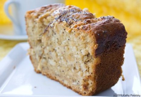 Poppyseed Lemon Chamomile Tea-Bread