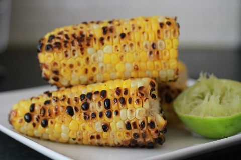Grilled Corn with Cumin Lime Butter