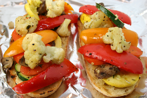 Open Faced Roasted Vegetable Sandwich (from Picky Cook)