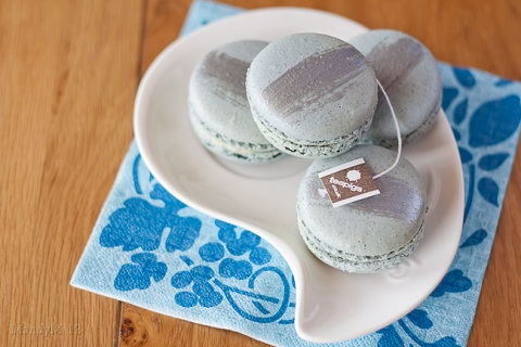 Earl Gray Lemon Macarons