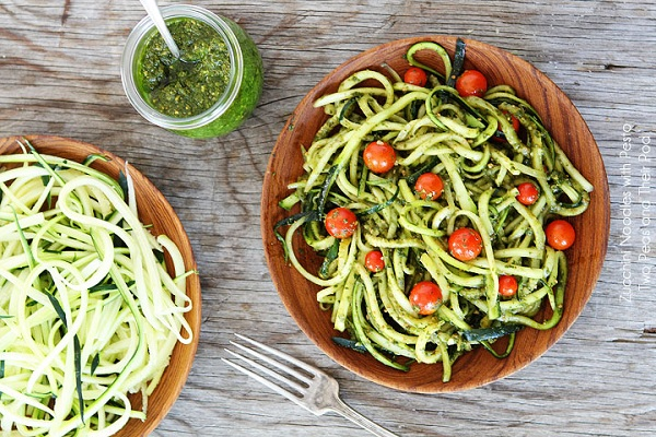 Zucchini Noodles with Pesto from Two Peas & Their Pod
