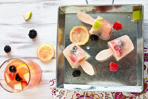 White Sangria Popsicles