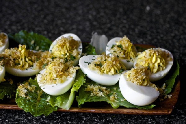 Caesar Salad Deviled Eggs from Smitten Kitchen
