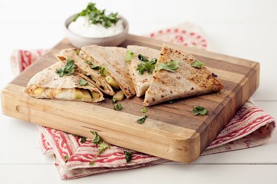 Grilled Cumin-Lime Zucchini Quesadilla from Naturally Ella