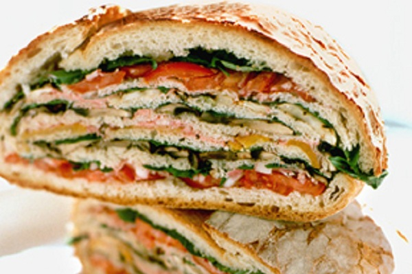 Portobello Mushroom, Tomato, and Fennel Hero Sandwich from Martha Stewart
