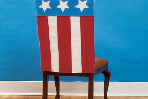 Fourth of July chair covers