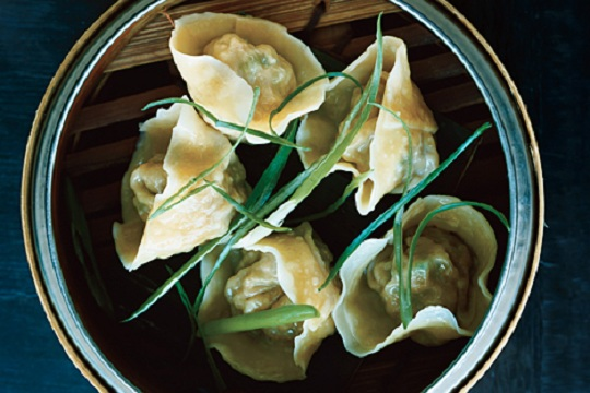 Pork and Chive Dumplings (Jiaozi) from Epicurious Photo by John Kernick