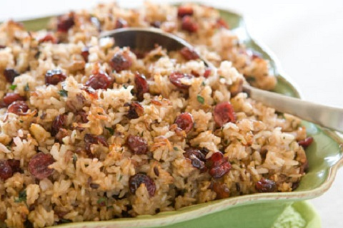Wild Rice, Dried Fruit, and Hazelnut Stuffing