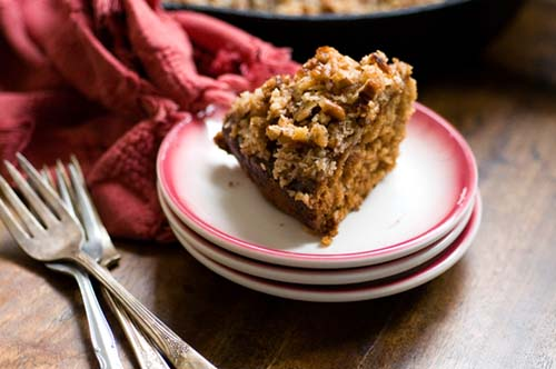 Dr. Pepper Oatmeal Cake with Coconut and Pecan Topping from The Homesick Texan